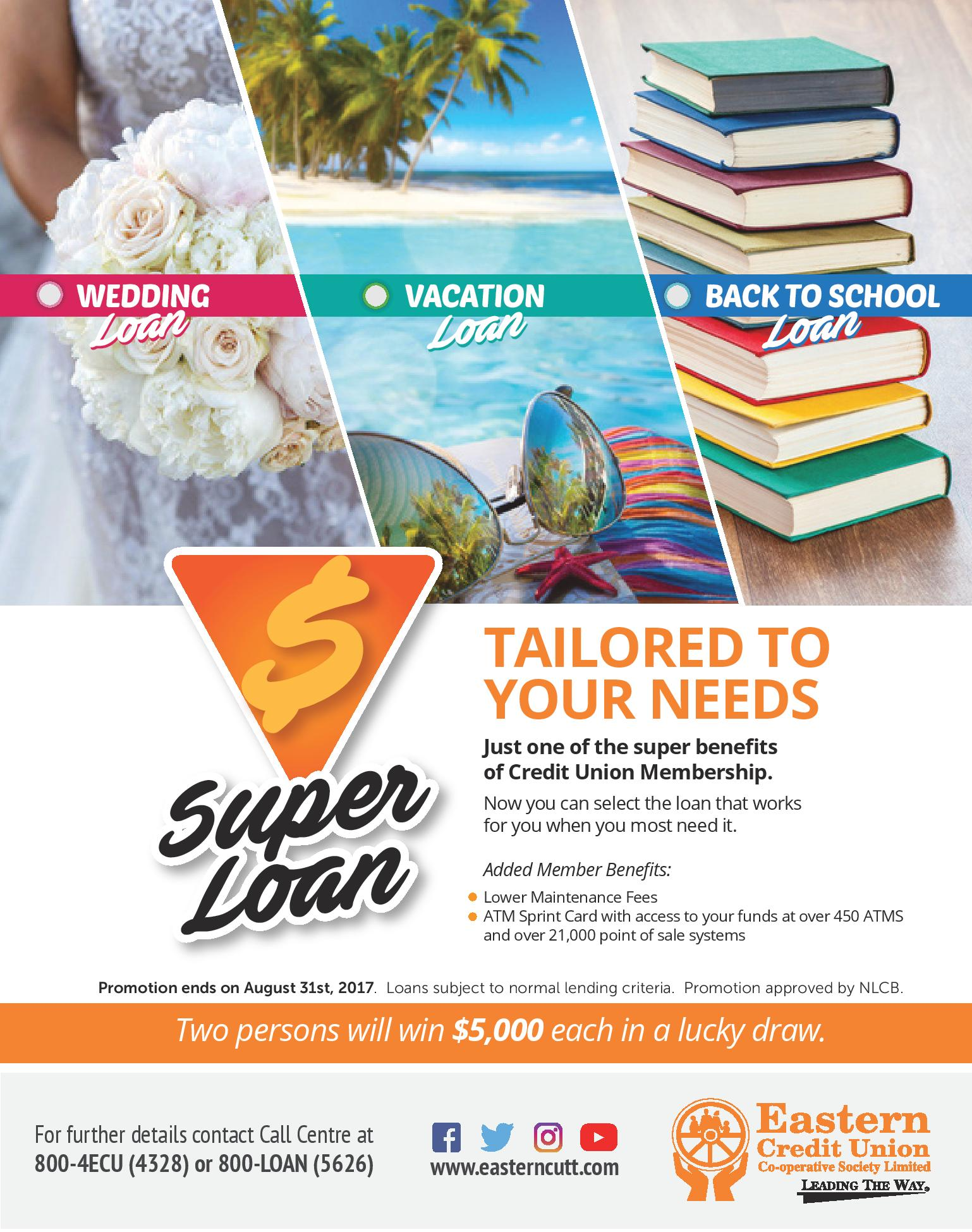 super loan promotion - eastern credit union
